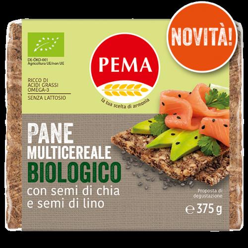 Pane multicereale biologico con semi di chia e semi di lino