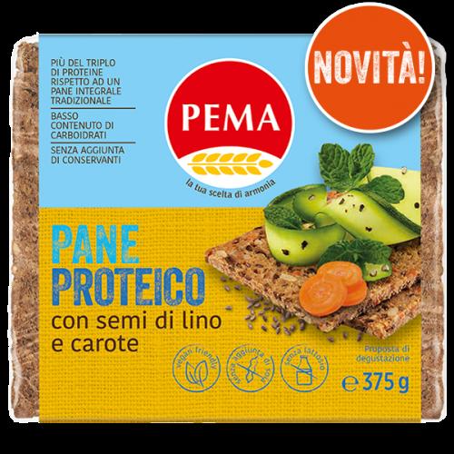 Pane proteico con semi di lino e carote